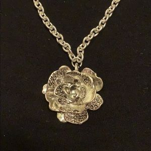 Flower pendant chunky necklace fashion jewelry